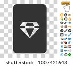 ruby gaming card icon with...