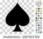 spades suit icon with bonus...