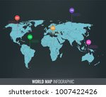 world map infographic template. ... | Shutterstock .eps vector #1007422426