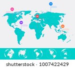 world map infographic template. ... | Shutterstock .eps vector #1007422429