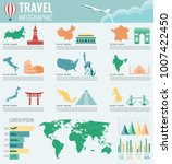 travel and tourism infographic... | Shutterstock .eps vector #1007422450