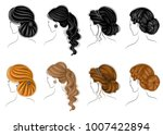 collection of female... | Shutterstock .eps vector #1007422894