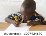 black african boy at school... | Shutterstock . vector #1007424670