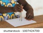 little african girl during... | Shutterstock . vector #1007424700