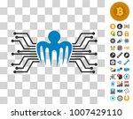 electronic circuit spectre icon ...