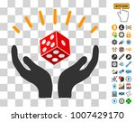 dice win hands pictograph with...