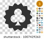 clubs token pictograph with...