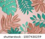 3d rendering  paper art ... | Shutterstock . vector #1007430259