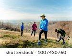 family jogging for sport... | Shutterstock . vector #1007430760