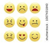 set of smile icons. emoji.... | Shutterstock .eps vector #1007431840