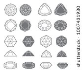 vector set of diamond design... | Shutterstock .eps vector #1007431930