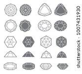 vector set of diamond design... | Shutterstock .eps vector #1007431930