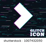 glitch effect. arrow sign icon. ...