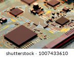 electronic circuit board close... | Shutterstock . vector #1007433610