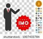 businessman show imo token icon ...