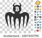 bitcoin spectre devil icon with ...