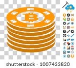bitcoin casino chips pictograph ...