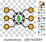 casino chip circuit icon with...