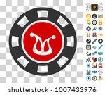 joker casino chip pictograph...