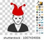 joker icon with bonus bitcoin...