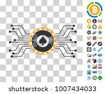 digital casino circuit...   Shutterstock .eps vector #1007434033