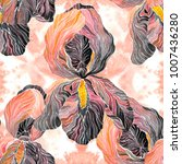 hand drawn watercolor seamless... | Shutterstock . vector #1007436280
