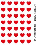 hearts designs for valentine's... | Shutterstock .eps vector #1007438104