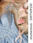 blue wedding dress  bridal...   Shutterstock . vector #1007439130
