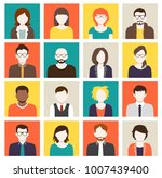 collection of cartoons   human... | Shutterstock .eps vector #1007439400