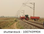 unmanned level crossing | Shutterstock . vector #1007439904