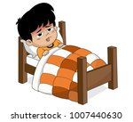 kid sick with high fever... | Shutterstock .eps vector #1007440630