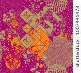 trendy geometric flat pattern ... | Shutterstock .eps vector #1007441473