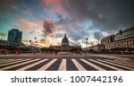 dramatic sky over san francisco ... | Shutterstock . vector #1007442196