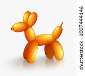 orange balloon dog isolated on...   Shutterstock .eps vector #1007444146
