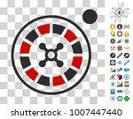 roulette icon with bonus...