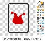 joker gambling card icon with...