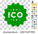ico token icon with bonus...