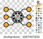 casino chip circuit pictograph...