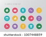 set of 15 editable relatives... | Shutterstock .eps vector #1007448859
