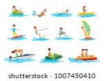 deep dive  sport canoeing  ride ... | Shutterstock . vector #1007450410