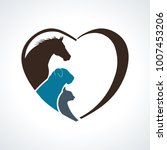 veterinarian heart animal love. ... | Shutterstock .eps vector #1007453206