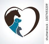 veterinarian heart animal love. ... | Shutterstock .eps vector #1007453209