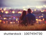 lover coup. background night... | Shutterstock . vector #1007454730