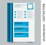 blue business flyer. a4... | Shutterstock .eps vector #1007457598