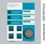 blue business flyer. a4... | Shutterstock .eps vector #1007457613