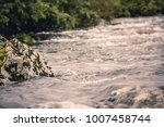 mountain river with green... | Shutterstock . vector #1007458744