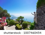 view of sea and garden from... | Shutterstock . vector #1007460454