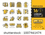 linear icons set of hotel... | Shutterstock .eps vector #1007461474