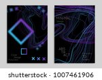 abstract banner template with... | Shutterstock .eps vector #1007461906