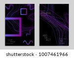 abstract banner template with... | Shutterstock .eps vector #1007461966